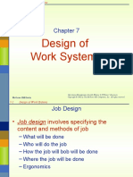 Chap 7 Design of Work Systems