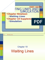 Chap 19 Waiting Lines and Simulation