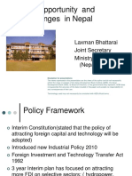 FDI Opportunity and challenges in Nepal