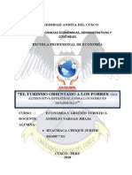 ANÁLISIS DE LOS POBRES DE GESTION TURISTICA