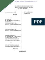 Complaint, Brown v. Azar, No. 1:20-cv-03702 (N.D. Ga. Sep. 8, 2020)