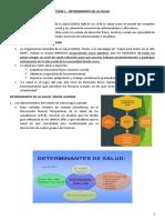 TEMA 1 - DETERMINANTE DE LA SALUD