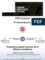 RCAF DG Space - Force Development Update - BGen Kevin Whale - FRE - Apr 4 2019
