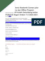 Soal Tes Potensi Akademik Camaru jalur Mandiri Online dan Offline Program Beasiswa KIP 2020