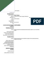 Anexa 3 - Model Curriculum vitae