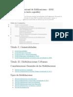 Reglamento Nacional de Edificaciones indice