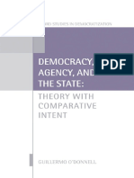 Democracy, Agency, and the State Theory with Comparative Intent by Guillermo O'Donnell