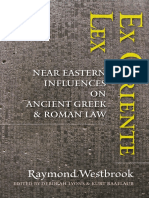 Ex Oriente Lex Near Eastern Influences on Ancient Greek and Roman Law by Raymond Westbrook Deborah Lyons, Kurt Raafla (eds.) (z-lib.org)