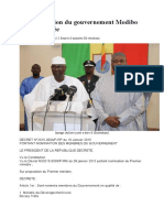 La composition du gouvernement Modibo Keïta dévoilée