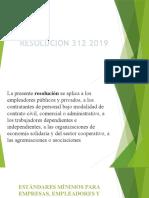 exposicion resolucion 312 2019