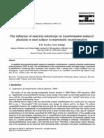 anisotropia e plasticidade na transformação martens