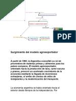 Surgimiento del modelo agroexportador