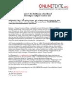 www.onlinetexte.com | Pressemeldung 2011-04 | Textagentur informiert