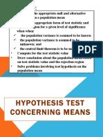 Lesson 3 Hypothesis test concerning means