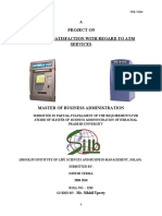 customer satisfaction with regard to ATM services