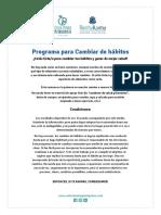 SEMANA 1 PROGRAMA DE CAMBIO DE HABITOS