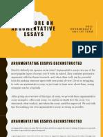 A bit more about argumentative essays
