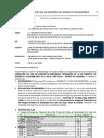 Informe Aprobación del Plan José Olaya