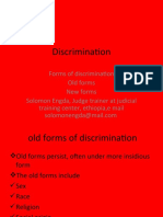 solomon engda Discrimination