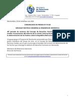 Comunicado Uruguay Ratifica Condena Al Régimen de Venezuela