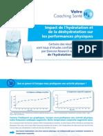 Impact de l'hydratation et de la déshydratation sur les performances physiques