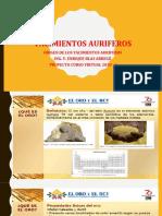 origen de los yacimientos auriferos