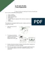 FS-1800 Toner Replacement