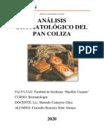 ANÁLISIS BROMATOLÓGICO DEL PAN COLIZA