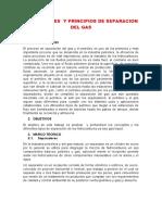 SEPARADORES  Y PRINCIPIOS DE SEPARACION DEL GAS