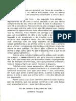 HOUAISS Antônio - Prefácio, in Caleidoscópio