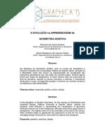 A EVOLUCAO NA APRENDIZAGEM DE GEOMETRIA GRAFICA  extra