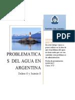 Problemas del agua en Argentina