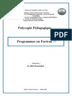 Polycopié Pédagogique Programmer en Fortran -Dr ABED