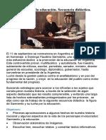 Sarmiento y la educación, secuencia didactica