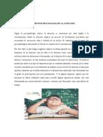 RESUMEN PSICOPATOLOGIAS DE LA ATENCION