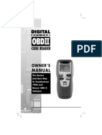 OBDII code reader owners manual