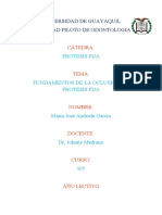 FUNDAMENTOS DE LA OCLUSION