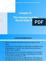 Chapter 8 - 13th Ed Internet and the WWW (1)