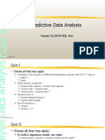 Predictive Data Analysis Model Answer