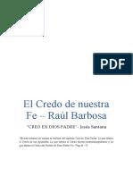 1re INFORME DE LECTURA  CREO EN DIOS PADRE