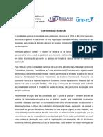 PRÉ-AULA - TEXTO - Contabilidade gerencial