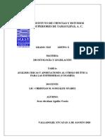 ANÁLISIS CRICAS Y APORTACIONES AL CÓDIGO DE ÉTICA PARA LAS ENFERMERAS (CONAMED).docx