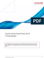 Experton_Cloud Vendor Benchmark 2010_Pressespiegel_280111_final