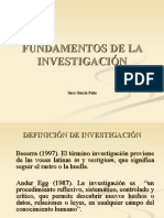 FUNDAMENTOS DE LA INVESTIGACION SOCIAL