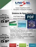 Instalações  - ÁGUA QUENTE
