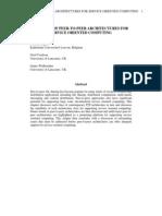 A survey of p2p architectures