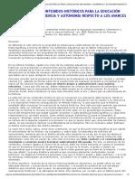 LA SELECCIÓN DE CONTENIDOS HISTÓRICOS PARA LA EDUCACIÓN SECUNDARIA_ COHERENCIA Y AUTONOMÍA RESPECTO A LOS AVANCES CIENCIA HISTÓRICA
