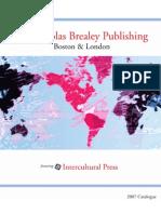 Nicholas Brealey Publishing 2007 Catalogue