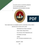 TRATAMIENTO DE AGUAS RESIDUALES EN LA INDUSTRIA TEXTIL, POR EL MÉTODO DE ELECTROCOAGULACIÓN