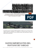 Batalla de pantano de Vargas LAURA GONZALEZ